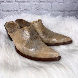 Old Gringo Suede Western Pointed Toe Heels Mules